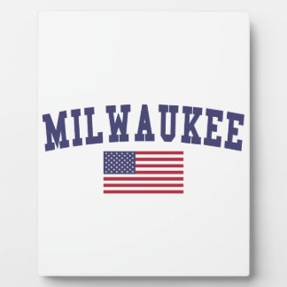 Milwaukee US Flag Plaque