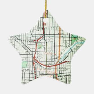 MILWAUKEE Vintage Map Ceramic Ornament