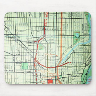 MILWAUKEE Vintage Map Mouse Pad