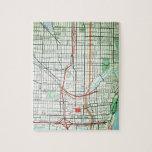 MILWAUKEE Vintage Map Puzzles
