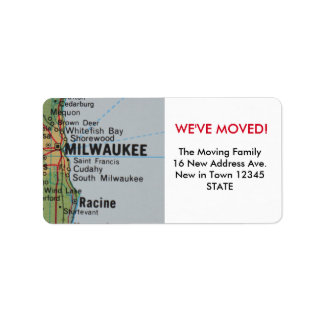 Milwaukee We've Moved label