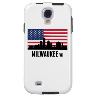 Milwaukee WI American Flag Galaxy S4 Case