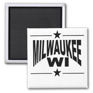 Milwaukee WI 2 Inch Square Magnet