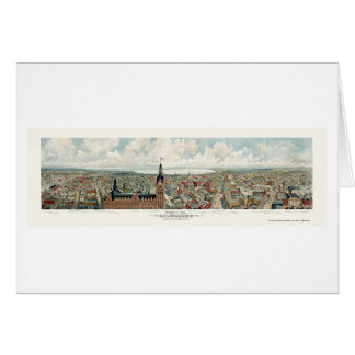 Milwaukee, WI Panoramic Map - 1898 Card