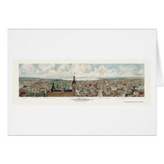Milwaukee, WI Panoramic Map - 1898 Greeting Card