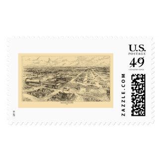 Milwaukee, WI Panoramic Map - 1906 Postage Stamp