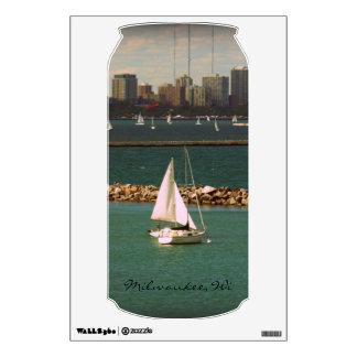 Milwaukee, WI Skyline Wall Sticker