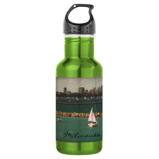 Milwaukee, WI Skyline Water Bottle