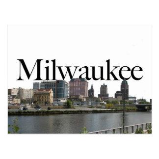 Milwaukee WI Skyline with Milwaukee in the Sky Postcard