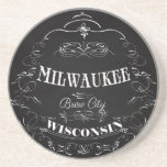 Milwaukee, Wisconsin - Brew City Drink Coaster