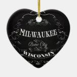Milwaukee, Wisconsin - ciudad del Brew Adorno De Navidad