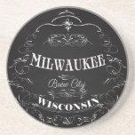 Milwaukee, Wisconsin - ciudad del Brew Posavasos Para Bebidas