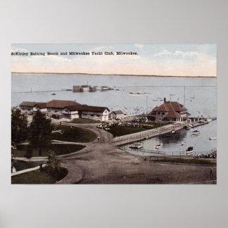 Milwaukee Wisconsin McKinley Beach and Yacht Club Print