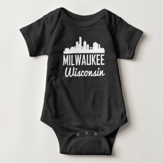 Milwaukee Wisconsin Skyline Baby Bodysuit