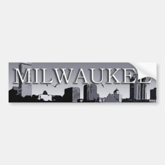 Milwaukee Wisconsin Skyline Bumper Sticker