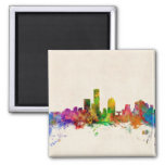 Milwaukee Wisconsin Skyline Cityscape 2 Inch Square Magnet