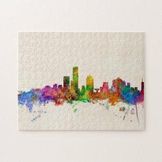 Milwaukee Wisconsin Skyline Cityscape Jigsaw Puzzle