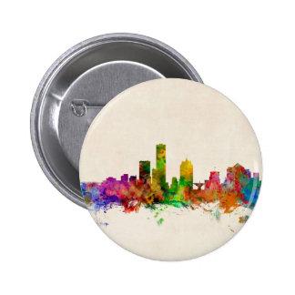 Milwaukee Wisconsin Skyline Cityscape Pinback Button