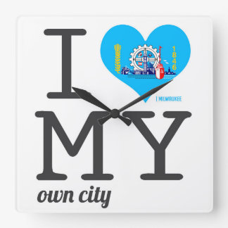 Milwaukee |  Wisconsin Square Wall Clock