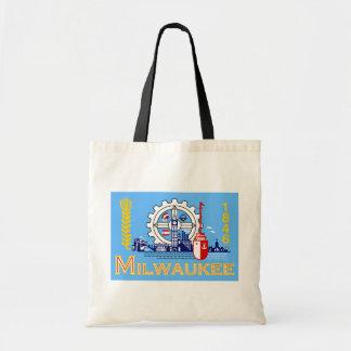 Milwaukee Wisconsin United States flag Tote Bag