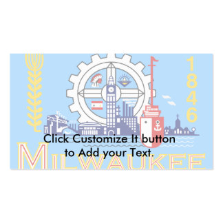 Milwaukee Wisconsin United States flag Business Card
