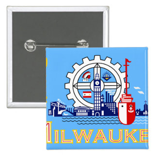 Milwaukee Wisconsin United States flag Buttons