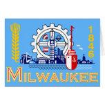 Milwaukee, Wisconsin, United States flag Card