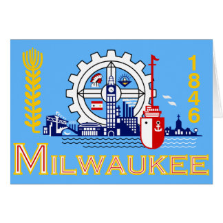 Milwaukee, Wisconsin, United States flag Card