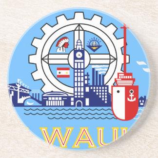 Milwaukee Wisconsin United States flag Drink Coasters