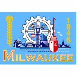 Milwaukee, Wisconsin, United States flag Cut Out