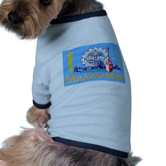 Milwaukee Wisconsin United States flag Pet Tshirt
