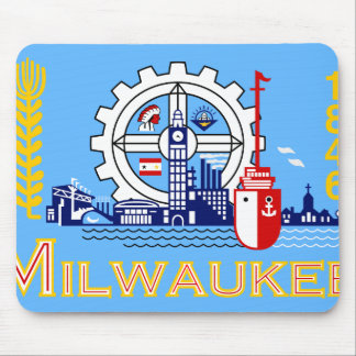 Milwaukee Wisconsin United States flag Mouse Pads