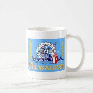 Milwaukee Wisconsin United States flag Coffee Mugs