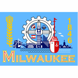 Milwaukee Wisconsin United States flag Cut Out