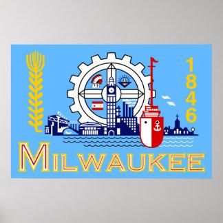 Milwaukee Wisconsin United States flag Poster