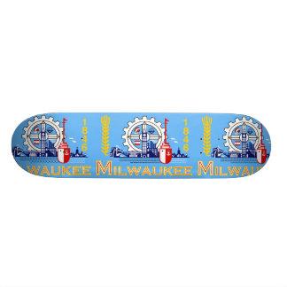Milwaukee, Wisconsin, United States flag Skateboard Deck