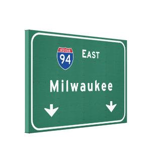 Milwaukee Wisconsin wi Interstate Highway Freeway Canvas Print