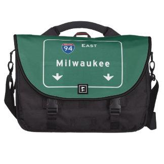 Milwaukee Wisconsin wi Interstate Highway Freeway Laptop Bag