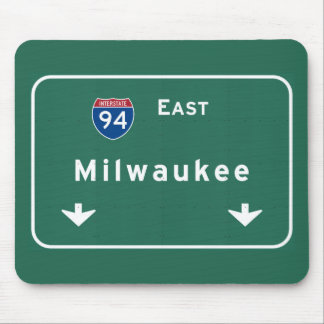 Milwaukee Wisconsin wi Interstate Highway Freeway Mouse Pad