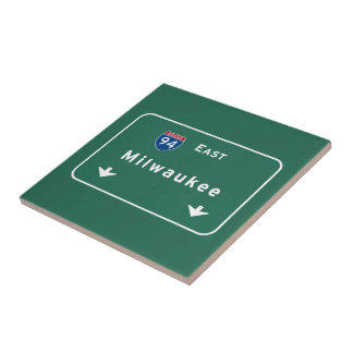 Milwaukee Wisconsin wi Interstate Highway Freeway Small Square Tile
