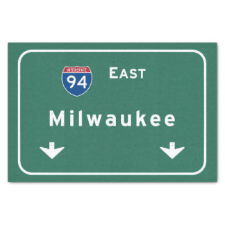 Milwaukee Wisconsin wi Interstate Highway Freeway Tissue Paper