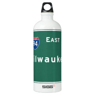 Milwaukee Wisconsin wi Interstate Highway Freeway Water Bottle
