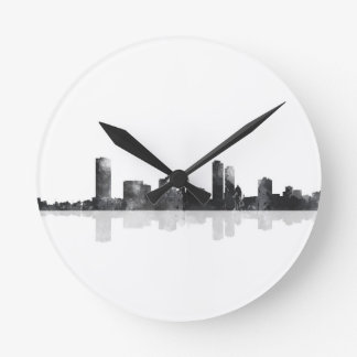 MILWAUKEE, WISCONSON SKYLINE ROUND CLOCK