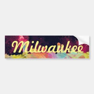 MILWAUKEE, WISCONSON SKYLINE WB1 - BUMPER STICKER