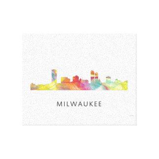 MILWAUKEE, WISCONSON SKYLINE WB1 - CANVAS PRINT