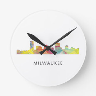 MILWAUKEE, WISCONSON SKYLINE WB1 - ROUND CLOCK