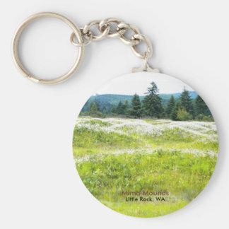 Mima Mounds Basic Round Button Keychain