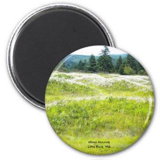 Mima Mounds, Little Rock, WA 2 Inch Round Magnet