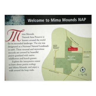 Mima Mounds Map Postcard