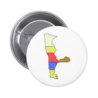 MIMAL el duende, el cocinero de cinco estados Pin Redondo De 2 Pulgadas